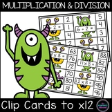 Multiplication and Division Clip Cards Activity