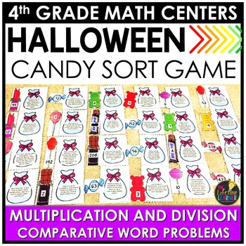 Multiplication and Division Comparative Word Problems October Math Center