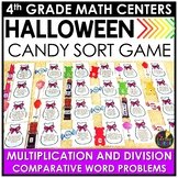 Multiplication and Division Comparative Word Problems Halloween Game