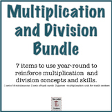 Multiplication and Division Concepts and Skills Practice Bundle (7 items)