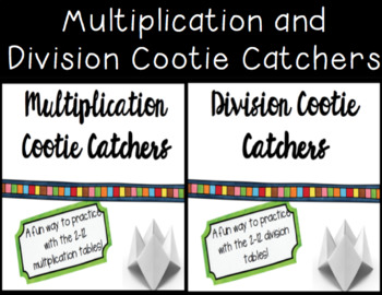 Multiplication and Division Cootie Cutters