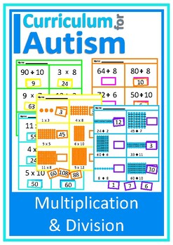 Multiplication and Division Cut & Paste, Math, Autism, Special Education