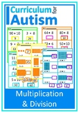 Multiplication Division Cut and Paste Autism Special Education