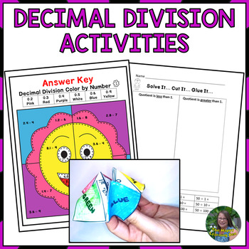 Multiplication and Division Decimal Activities Bundle