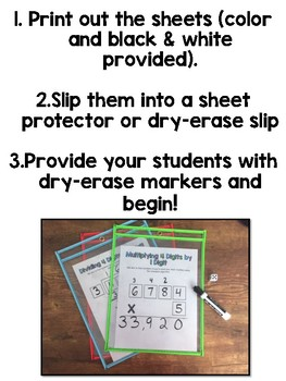 Multiplication and Division Dice Game ( 4 times 1 digit // 4 divided by 1 digit)