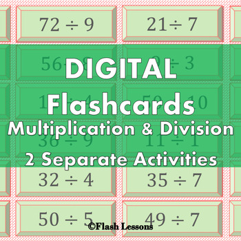 Multiplication and Division Digi Flashcards