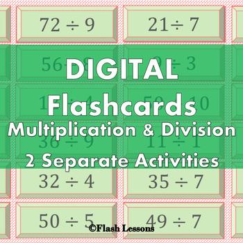 Multiplication and Division Digi Flashcards