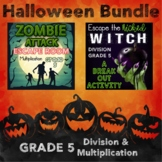 Multiplication and Division Digital Escape Rooms Grade 5--