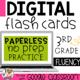 Multiplication and Division Digital Flash Cards to use with Google Classroom
