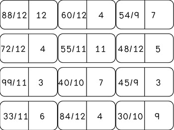 Multiplication and Division Dominoes Bundle