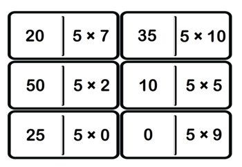 Multiplication and division dominos 2 3 4 5 6 7 8 - Domino table de multiplication ...