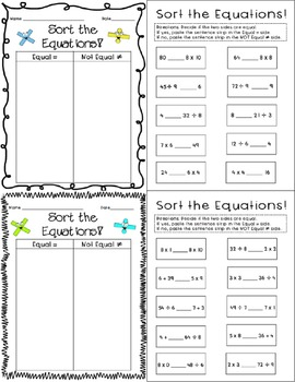 Multiplication and Division Equations Bundle