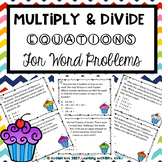 Multiplication and Division Equations Scavenger Hunt
