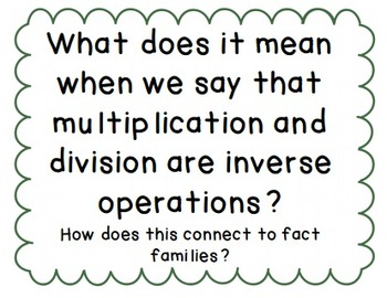 Multiplication and Division Essential Questions (CCSS)