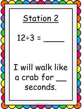 Multiplication and Division Kinesthetic Exercise Activity BUNDLE