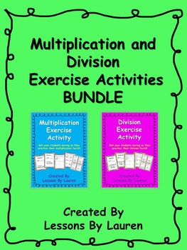 Multiplication and Division Exercise Activity BUNDLE
