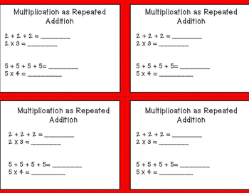 Multiplication and Division Exit Tickets