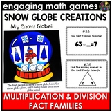 Multiplication and Division Fact Families Christmas Game
