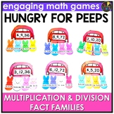 Easter Multiplication and Division Fact Families Game