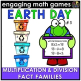 Earth Day Multiplication and Division Fact Families Game