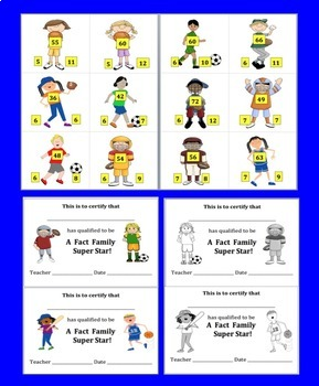 Multiplication and Division Fact Families-78 Sports Themed Fact Families-CCSS