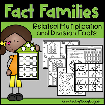 Multiplication and Division Fact Families Activities