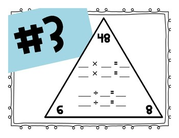 Multiplication and Division Fact Families (Commutative Property)
