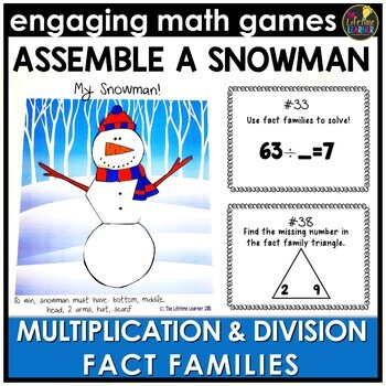 Multiplication and Division Fact Families Game