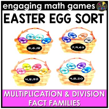 Easter Math Game - Multiplication and Division Fact Families
