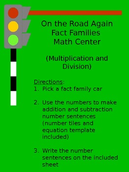 Multiplication and Division Fact Families Math Center