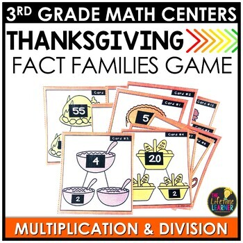 Multiplication and Division Fact Families Thanksgiving Game