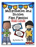 Multiplication and Division Fact Families: Task Cards