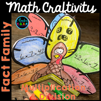 Multiplication and Division Fact Families - Thanksgiving Math Craftivity