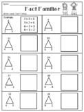 Multiplication and Division Fact Families Worksheets