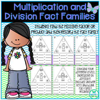 Multiplication and Division Fact Families with Missing Factor or Product