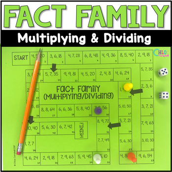 Multiplication and Division Fact Family Board Game