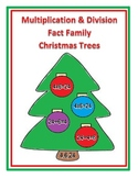 Multiplication and Division Fact Family Christmas Trees