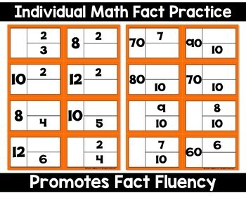 Multiplication and Division Flashcards Part Part Whole