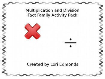 Multiplication and Division Fact Family Game Pack