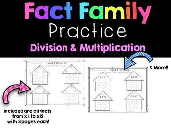 Multiplication and Division Fact Family Practice