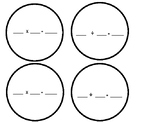 Multiplication and Division Fact Family Snowman Activity Template