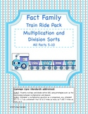 Multiplication and Division Fact Family Trains Pack- Common Core Aligned