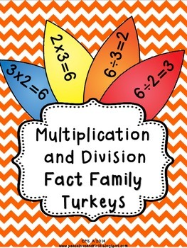 Multiplication and Division Fact Family Turkeys