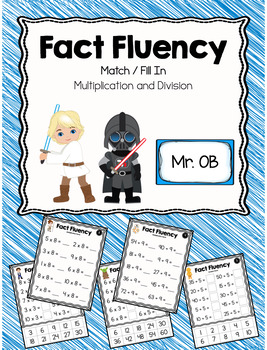 Multiplication and Division Fact Fluency File Folder - Space Wars!