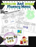 Multiplication and Division Fact Fluency Menu (Homework)