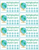 Multiplication and Division Fact Fluency Punch Cards: Trav