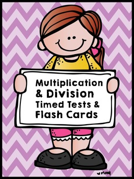 Multiplication and Division Fact Fluency Tests and flash cards