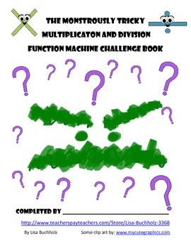 Multiplication and Division Fact Function Machines