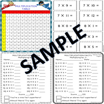 Multiplication and Division Fact Hero - fact practice, tracking & flash cards