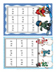 Multiplication and Division Fact Practice - Tic Tac Toe - Winter Version